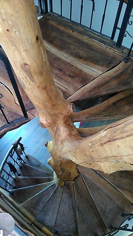 villa villa in the forest forest villa, Villa perule Wood stairs wood woodenart woodart art